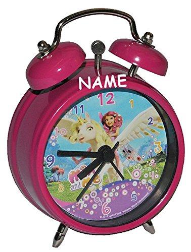 #Kinderwecker Mia and Me – incl. Name – für Kinder Metall Wecker – rosa Einhorn Alarm Mädchen Kinderwecker Metallwecker Einhörner Pferde Yuko Mo Omchao#