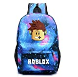 Roblox Zaino Scuola zainetto Laptop Zaino Boy Girl Bambino Teen Game Fan Gift (Color 3)