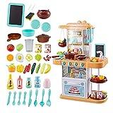 Xyanzi Kinderspielzeug Kochen Sie Kitchen Playset Spielzeug, Kleinkind Kitchen Cook Playset Kochen Spielzeug, Kochgeschirr, Kinder Kochen Pretend Play Set mit Licht und Sound-Effekt