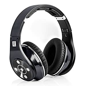 Bluedio R+Legend Version (Revolution) Faith Series Bluetooth Cuffie Auricolari HiFi Rank wireless +wired headset/headphones Excellent Outlook Technology Patented 8 Sound Tracks /Line-in Mode&Mp3 Player over the ear headphones Gift-Package: Titanium