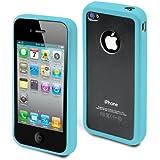 muvit Bimat Coque rigide en polycarbonate pour iPhone 4 Turquoise/Transparent