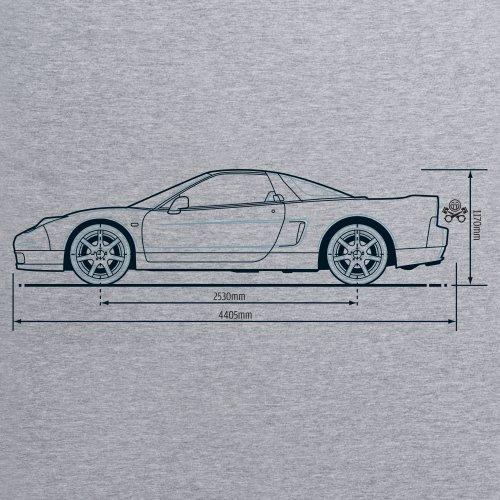PistonHeads Acura NSX Sports Coupe T-Shirt, Herren Grau Meliert