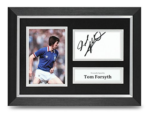 Tom-Forsyth-Signed-A4-Photo-Framed-Rangers-Memorabilia-Autograph-Display-COA