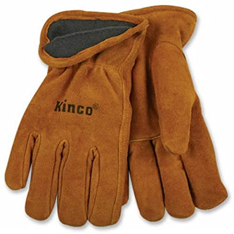 KINCO INTERNATIONAL - Extra-Large Men's Lined Full-Suede Cowhide Leather Gloves