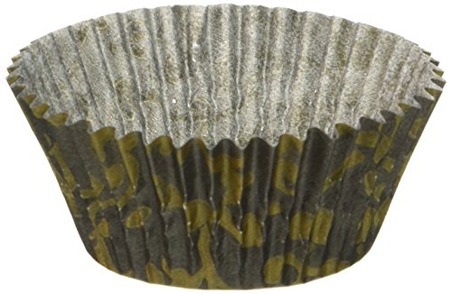 t Baking Cups, Standard Size, Black and Gold Vine Pattern by Oasis Supply ()
