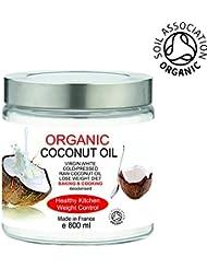 BIO Huile de Noix de Coco Organique 500 ml 100% Pure, sans odeur - Première pression à froid - Cuisine et Soins de la Peau et Cheveux
