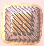 Antiquitäten - antike Backform, Verzierung, Schokoladenform - UNBENUTZT - NEUWERTIG - Quadrat (324)