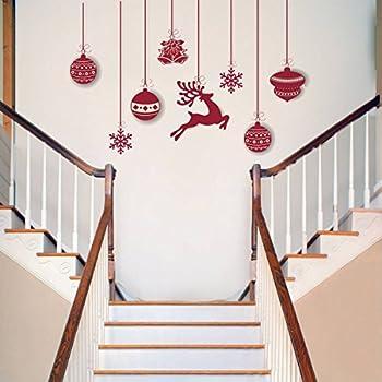 Rawpockets 'Christmas Hanging Decorative' Wall Sticker (PVC Vinyl, 0.99 cm x 124.99 cm x 80 cm)