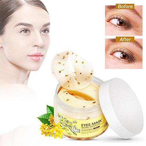 Eye Patch, Eye Mask,Golden Osmanthus Eyes Gel Sticker,Augen Maske,Kollagen Augenmaske, Anti-Falten Augenmasken, Collagen Augenpads(80 Stück/Flasche)
