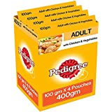Pedigree Gravy Adult Dog Food, Chicken And Vegetable In Gravy, 100 G Pouch (Pack Of 4)