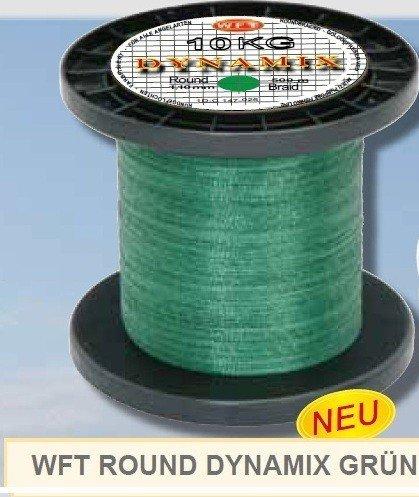 WFT Round Dynamix 600m geflochtene Angelschnur, Durchmesser:0.20mm;Farbe:Grün