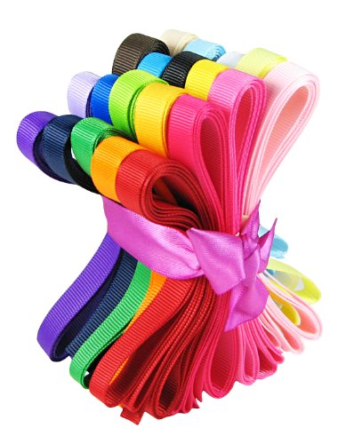 hipgirl-boutique-40yd-20x2yd-3-8-solid-grosgrain-ribbon-value-pack