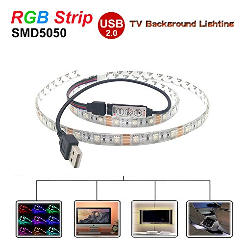 3m Led tv backlight, kobwa USB powered led hintergrundbeleuchtung Streifen met smd5050RGB voor TV scherm, PC LCD monitor