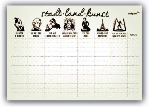 Tischset aus Papier STADT LAND KUNST - 50er Set - Papier Städte