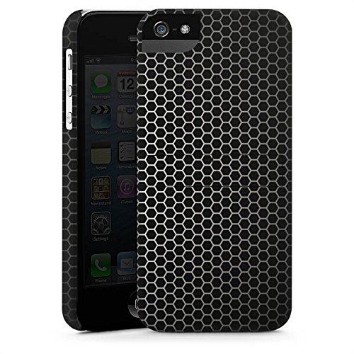 Apple iPhone 5s Housse étui coque protection Motif Motif Noir CasStandup blanc