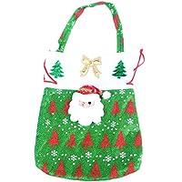 lumanuby 1x bolso de Navidad Papá Noel caramelos regalo de copo de nieve diseño de Navidad bolsa decoración fiesta nuevo años verde Papá Noel