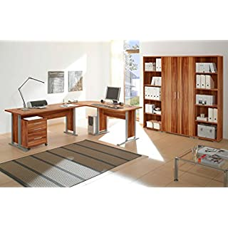 Office Line Heimbüro 7-tlg. walnuss Dekor