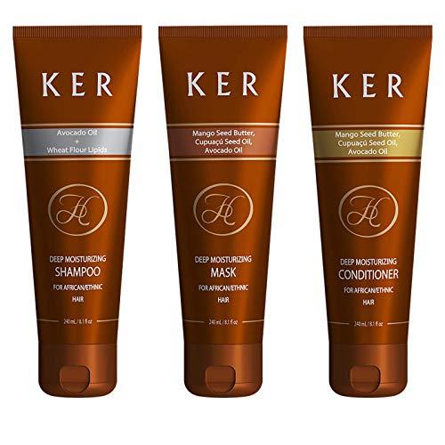 Shampoo, Conditioner & Maske für Afro Hair/Ethnisches Haar, 3er Pack (3 x 240ml)