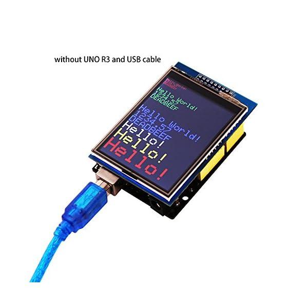 51BrLbWjkZL. SS600  - ELEGOO UNO R3 Pantalla Táctil TFT DE 2,8 Pulgadas con Tarjeta SD con Todos Los Datos Técnicos en CD para Arduino UNO R3