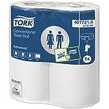 Tork 472159 Papier toilette Advanced - Blanc - 2 plis - lot de 4 rouleaux - 4 x 198 feuilles