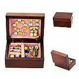 Zmigrapddn Puppenhaus Möbel Kid Spielzeug, Mini Lovely Holz Jewelry Box Modell Spielzeug Puppenhaus Miniatur Decor Zubehör, Holz, Bunt, Einheitsgröße