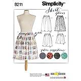 Simplicity Damen Easy Schnittmuster 8211Dirndl Röcke in drei Längen