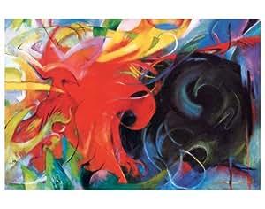 Lutte abstraite by Franz Marc, 143x112