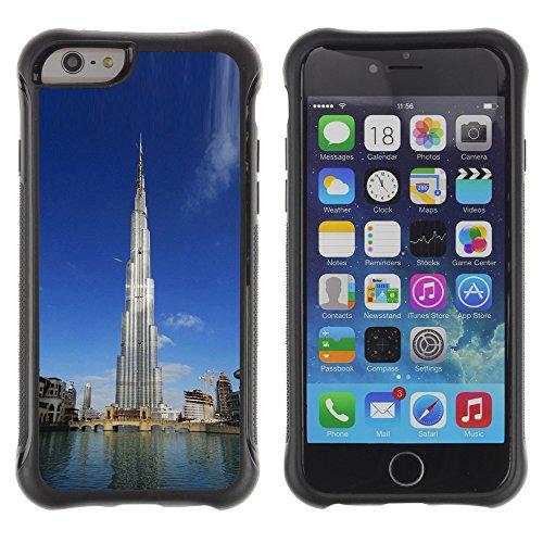 Graphic4You Burj Khalifa Skyscraper Dubai Postkarte Ansichtskarte Design Shockproof Anti-Rutsch Weichen Hülle Case Tasche Schutzhülle für Apple iPhone 6 Plus / 6S Plus Design #3