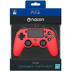 Nacon - Mando para PS4 Rojo