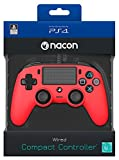 NACON Compact Controller Colour Edition Gamepad Playstation 4 Rot - Spiele-Controller (Gamepad, Playstation 4, D-pad, Menü, Verkabelt, Rot, 65 mm)