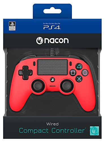NACON PS4 Controller Color Edition, Rot (Rot Controller Playstation)