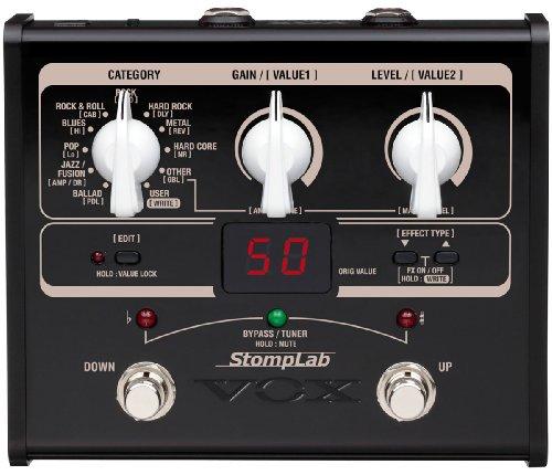 Vox STOMPLAB1G - Pedal multiefecto para guitarra (batería alcalina)