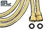 Flexibler Duschschlauch Brause Schlauch 1,75m 175cm Gold Metall Sanlingo