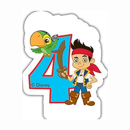 Disney Yo Ho Jake und die nie Land Piraten 4. Geburtstag Kerze