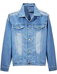 89a5bf0c4c34 BININBOX® Fashion Herren Jungen NEU Jeansjacke Freizeit Jacke in 3 Farben
