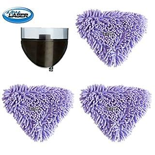 Aqua Laser  3 x Korallenbezüge Korallenbezug Premium 3 Chenille Mikrofaser-Bodentuch für Dampfbesen Dampfreiniger