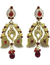 02dd9f672430 Banithani tradicional Nueva joyería étnica india Pendiente Goldplated  Fiesta Bollywood