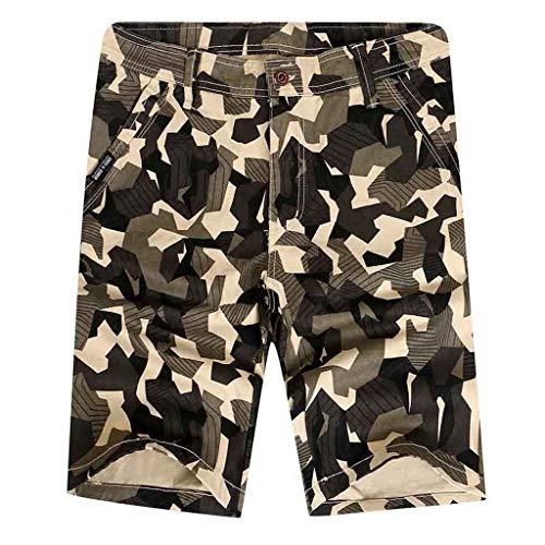 Einfarbig Tarnung Arbeitshosen Lässig Kurze Hosen Boxing Shorts Sweatshorts Sportshorts Chino-Hose(b Beige,31) ()