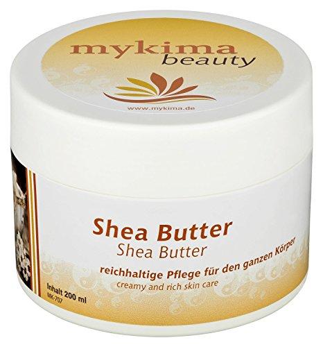 mykima Shea Butter Balsam 200 ml ideal bei trockener und gereizter Haut, Tag- und Nachtcreme für Gesicht und Körper. -