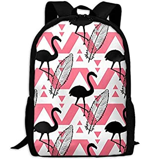Aztec Tribal Palm Leaf Flamingo Adult Travel Backpack School Casual ypack Oxford Outdoor Laptop Bag College Computer Shoulder Bags