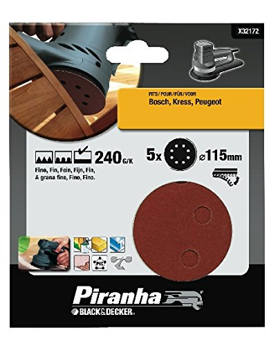 Piranha X32172-XJ Schleifscheibe, 115mm, 240g, schnelle Befestigung