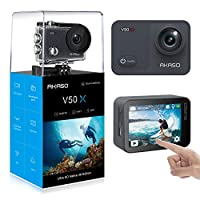 AKASO V50X Native 4K30fps Touch Screen Action Camera with EIS Adjustable View Angle 40m Waterproof Underwater Camera Remote Control 4 X Zoom WiFi Sports Camera with Mounting Accessories Kit