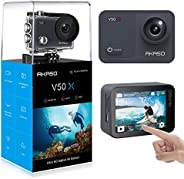 AKASO V50X Native 4K30fps Touch Screen Action Camera with EIS Adjustable View Angle 40m Waterproof Underwater