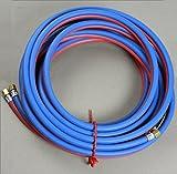 Autogenschlauch für Sauerstoff und Acetylen Gas Zwillingsschlauch 6,3x 6,3 Länge 10 Meter montiert Neu