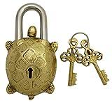 Tortoise Entwurf Messing Startseite Dekorative Handcrafted Gold Ton Vorhängeschloss mit 2 Schlüsseln
