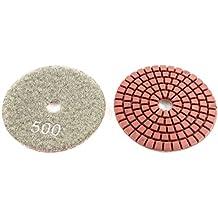 Granito porcellana Concrete 3 2pcs pollici asciutto bagnato diamante lucidatura Pad