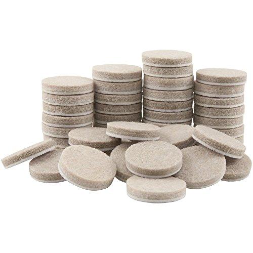 nicebuty 1en redondo muebles almohadillas de fieltro para superficies duras, protectores de piso, 48pcs