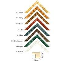 Cornice in legno Zevil, Cornice in legno, miele, 15x20 cm