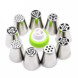 9 Piece Russian Tulip Tips Stainless Ste...