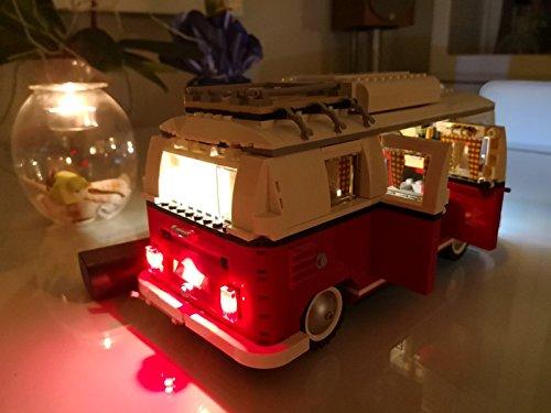 Kit di illuminazione led per lego 10220 volkswagen t1 camper van